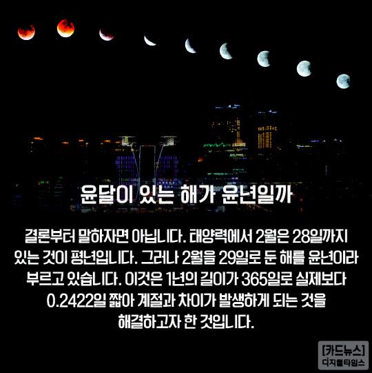[카드뉴스] 3년 만에 돌아온 윤달